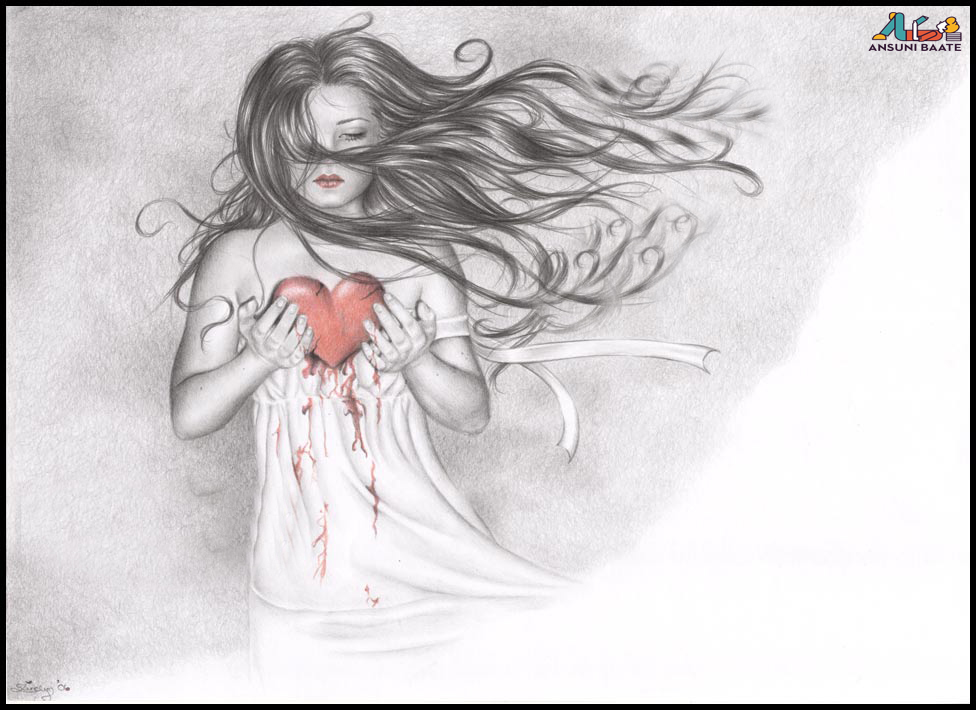 love heart touching broken a girls image in hindi