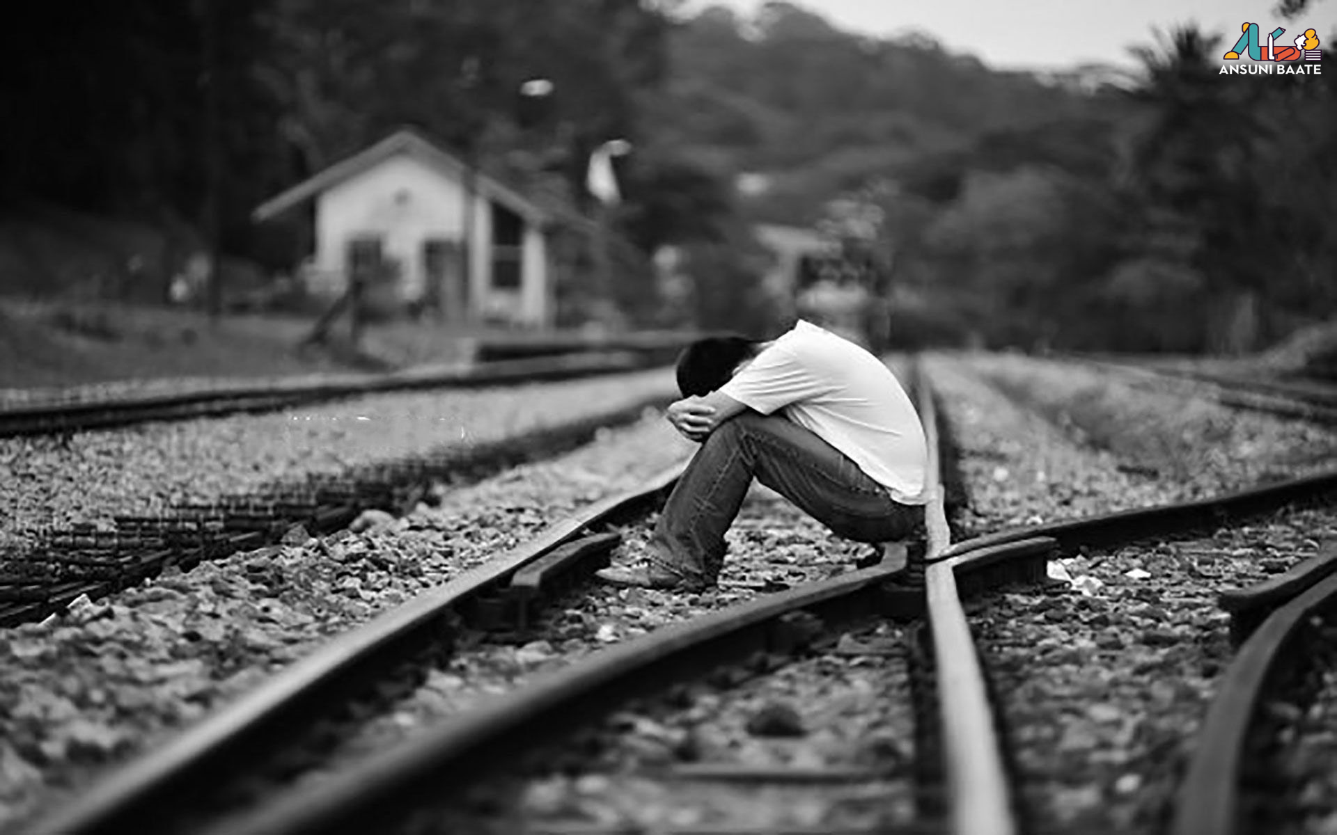 sad pic wallpaper image boy very sad on train broken heart